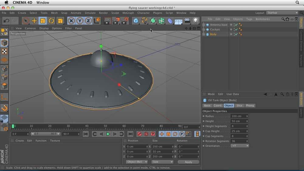 آموزش Cinema 4D: 1 اشیاface رابط و سلسله مراتب