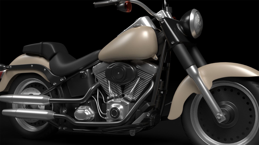 آموزش مدل سازی موتور سیکلت در مخلوط کن