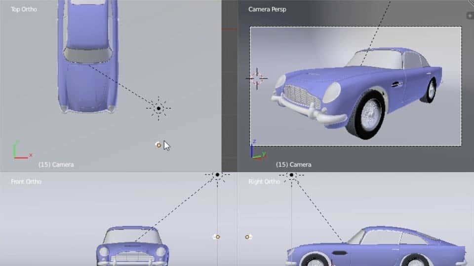 آموزش بلندر: مدل سازی خودرو