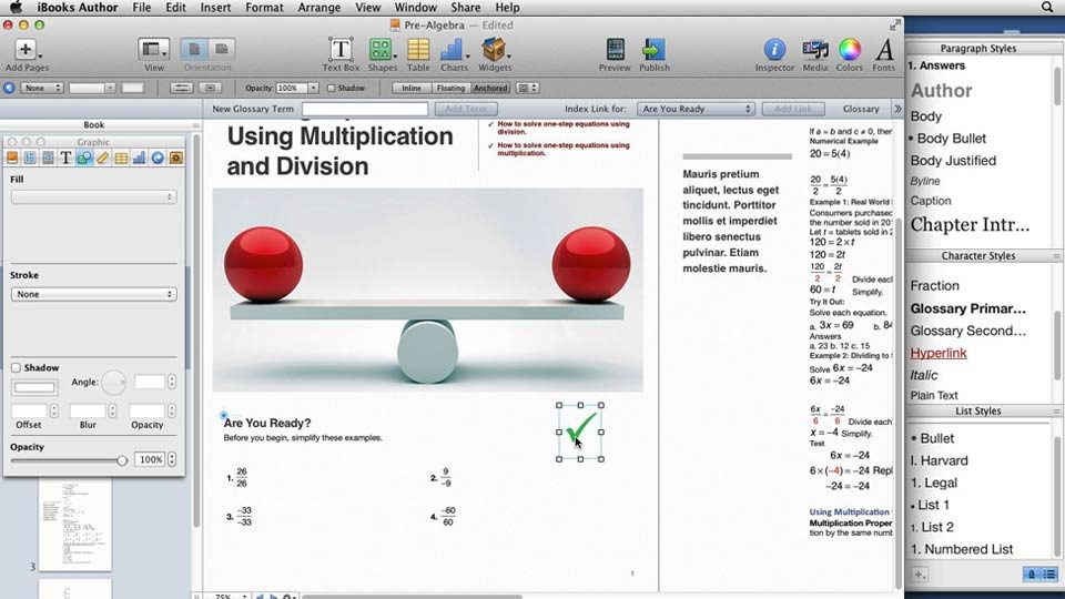 آموزش نویسنده iBooks برای معلمان: ایجاد یک درس ریاضی