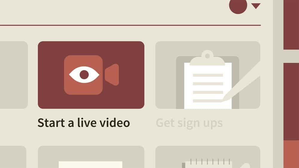 آموزش ارائه ویدئو به Facebook Live