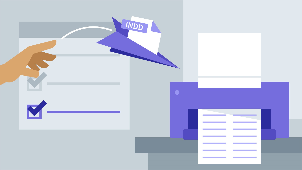 آموزش InDesign: پیش پرواز و چاپ