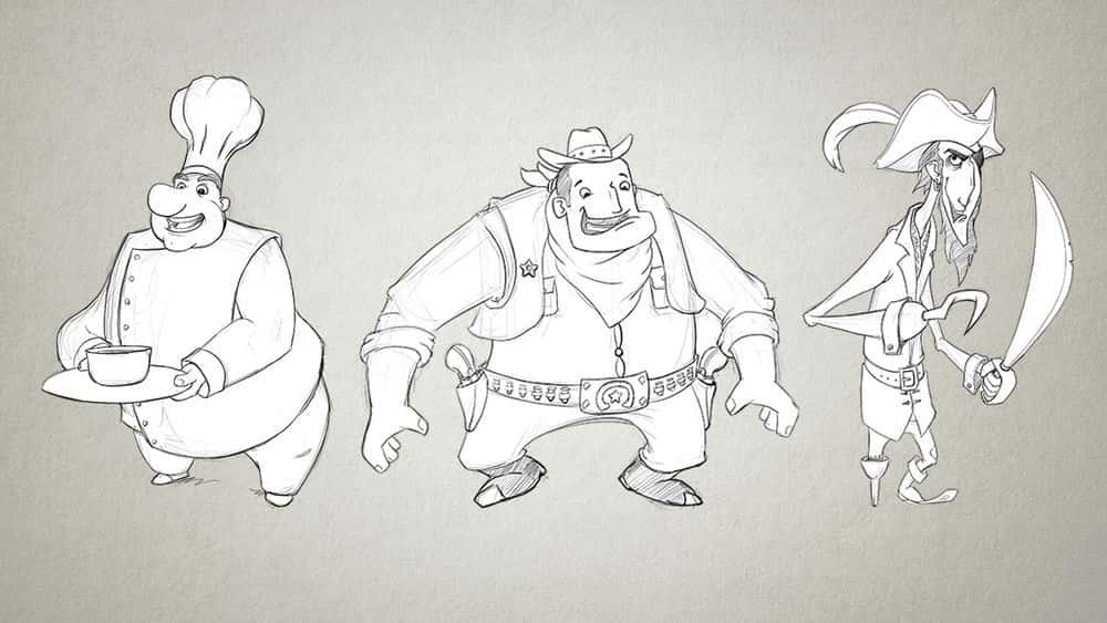 آموزش طراحی شخصیت های جذاب کارتونی در فتوشاپ