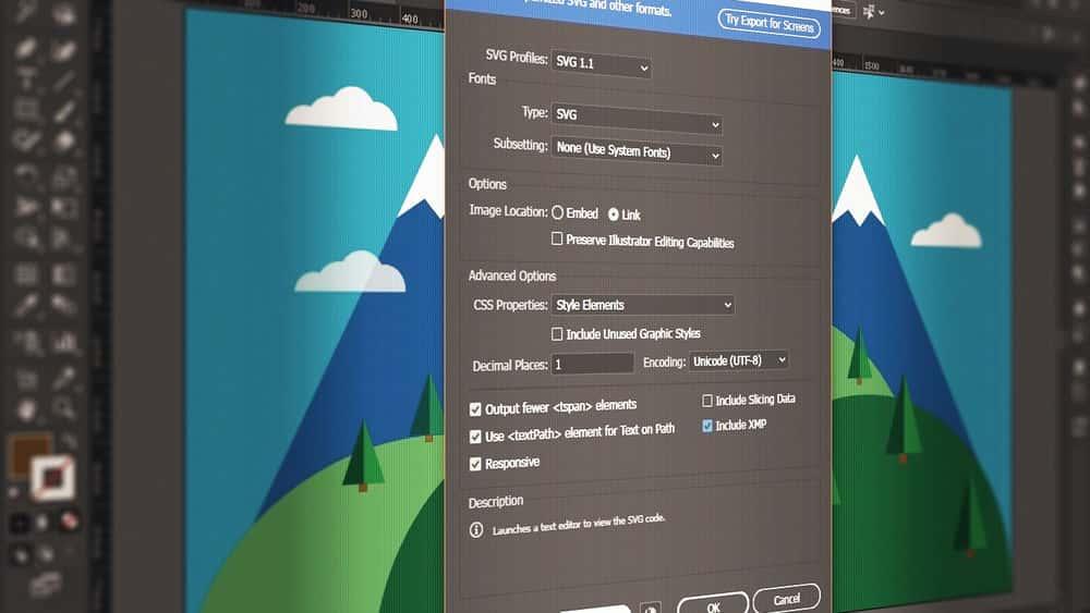آموزش Illustrator CC ایجاد SVG ها
