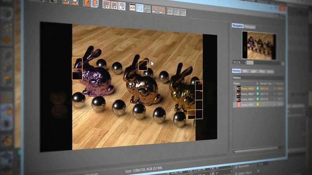 آموزش مبانی رندر Cinema 4D