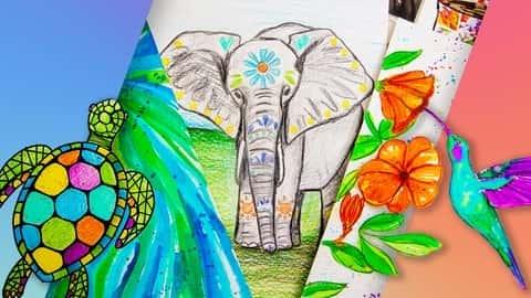 آموزش هنر برای مبتدیان و کودکان: 8 پروژه طراحی و رسانه های ترکیبی