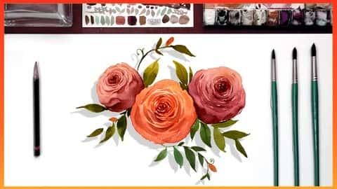 آموزش گل های نقاشی آبرنگ توسط هنرمند برنده جایزه