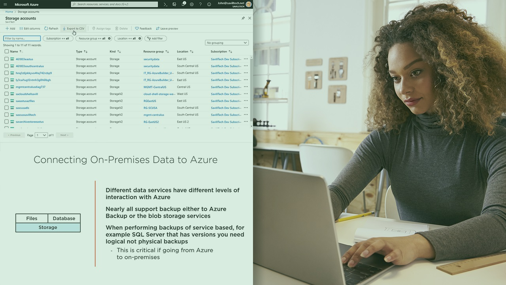 آموزش پیاده سازی راه حل های ترکیبی داده در Microsoft Azure