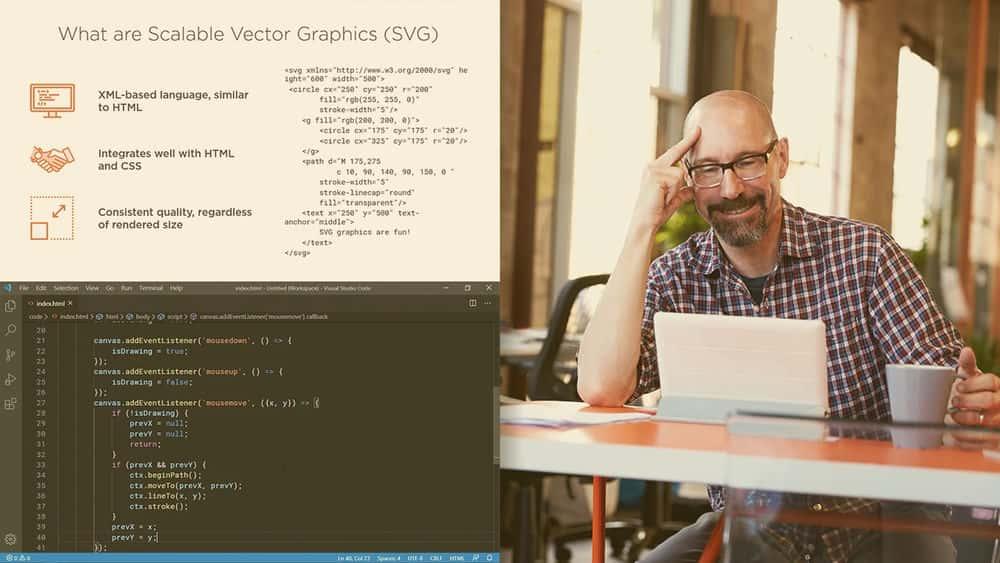 آموزش افزودن گرافیک به صفحات وب با استفاده از Canvas و SVG