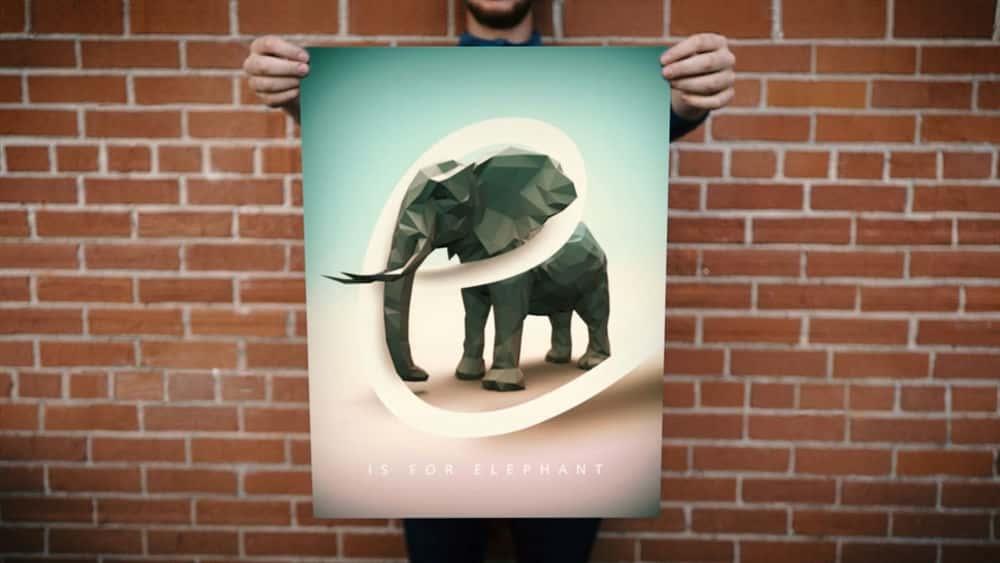 آموزش ایجاد یک پوستر کم پلی در CINEMA 4D و فتوشاپ