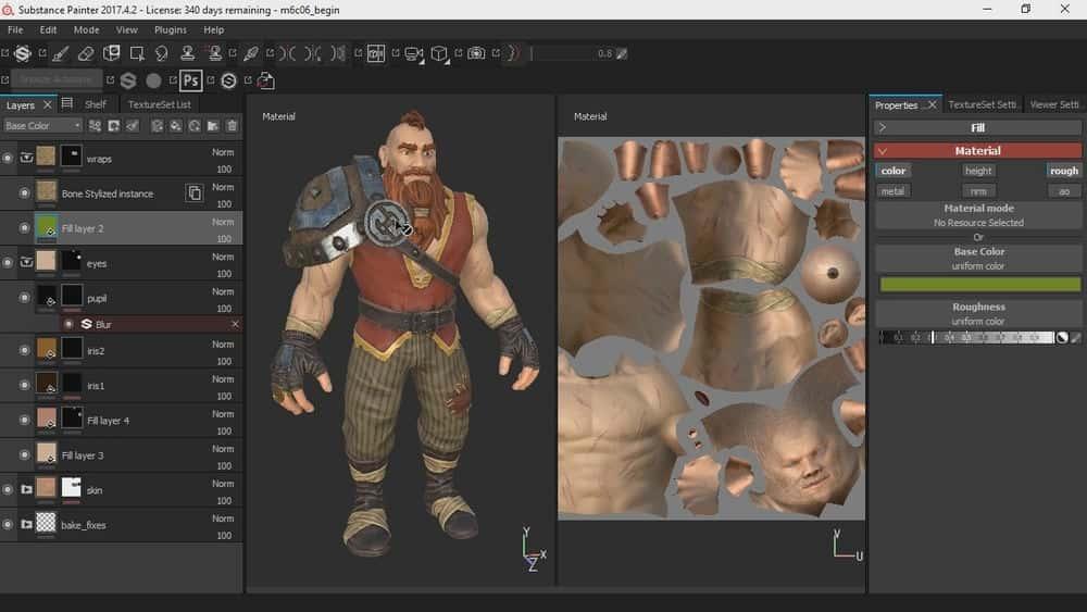 آموزش شخصیت های بازی بافت در Substance Painter