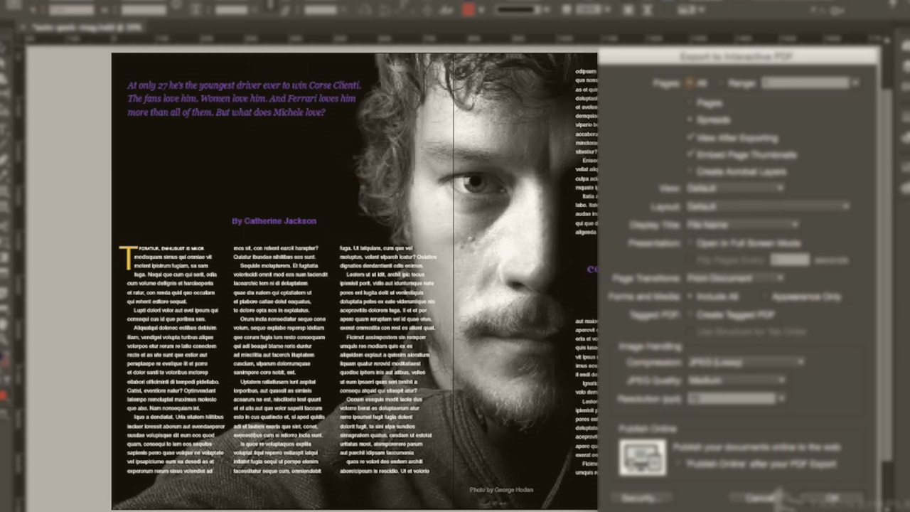 آموزش InDesign CC Interactive PDF