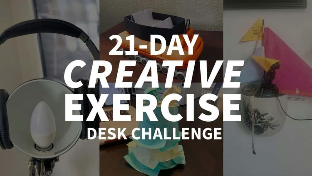 آموزش چالش میز تمرین خلاق 21 روزه