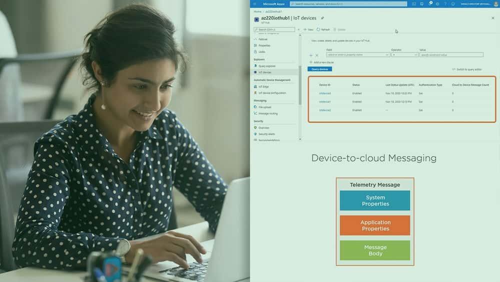 آموزش Microsoft Azure IoT Developer: ساخت پیام رسانی و ارتباطات دستگاه